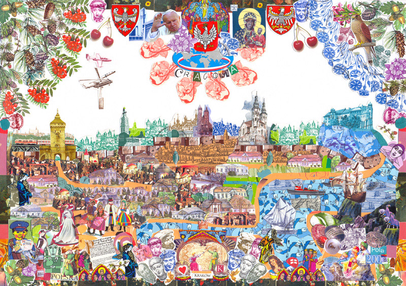 img_stamp_02_cracovia_collage_from_post_stamps_by_pola_dwurnik_2008